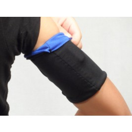 DOUBLE ARM BAND - BLACK/ELECTRIC BLUE