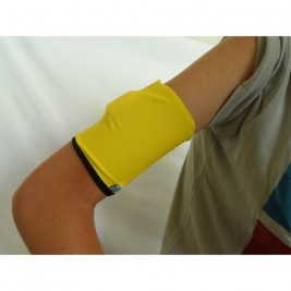 DOUBLE ARM BAND - BLACK/YELLOW
